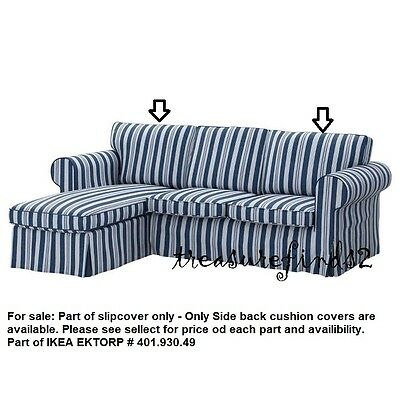 Parts of IKEA EKTORP Loveseat with Chaise Abyn Blue Slipcover part of 401.930.49
