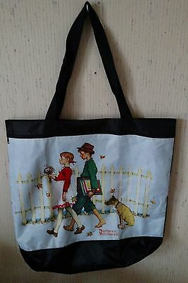 Teacher's Cloth/nylon lined, tote bag  Norman Rockwell's, *Young Love* washable