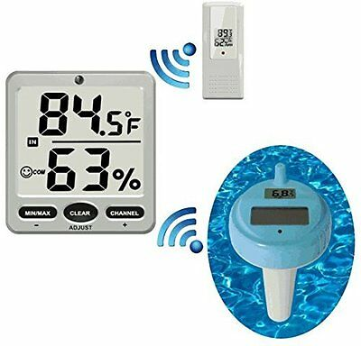 Ambient Weather WS-18 Wireless 8-Channel Floating Pool and Spa Thermometer