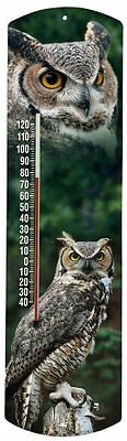 Heritage America by MORCO 375OWL Owl Outdoor or Indoor Thermometer, 20-Inch