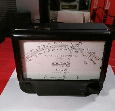 vintage electronic equipment Simpson Model 388 Therm O Meter