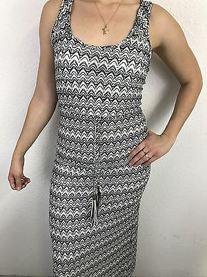 Rampage Womens Black, Grey and White Patterned Maxi Dress, Small