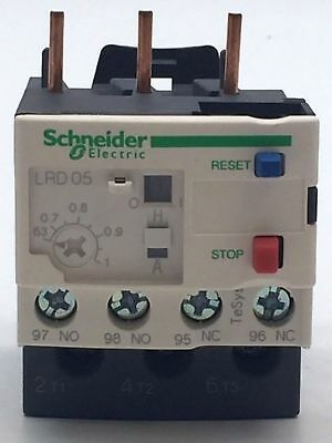 Schneider Telemecanique LRD05 Thermal Overload Relay 0.63 - 1A 034675