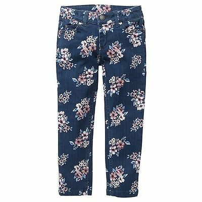 NWT Target Girls Floral Embroidered Stretch Jeans Size 2