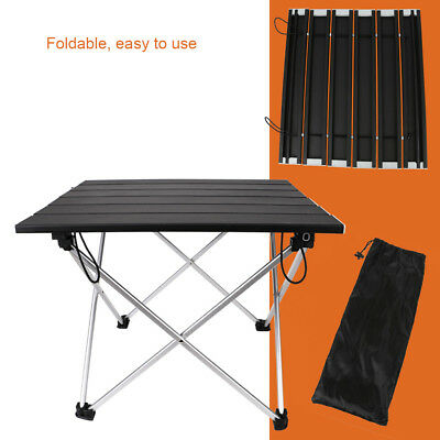 Aluminum Folding Collapsible Camping Table Roll up with Carrying Bag Picnic BBQ