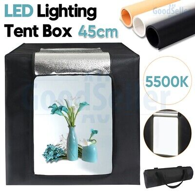 Portable 45CM LED Light Room Photo Studio Lighting Tent Kit Cube Soft Box AU