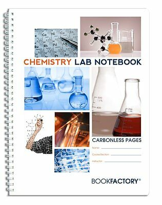 """BookFactory Carbonless Chemistry Lab Notebook - 50 Sets of Pages 8.5"""" X 11"""" -"""