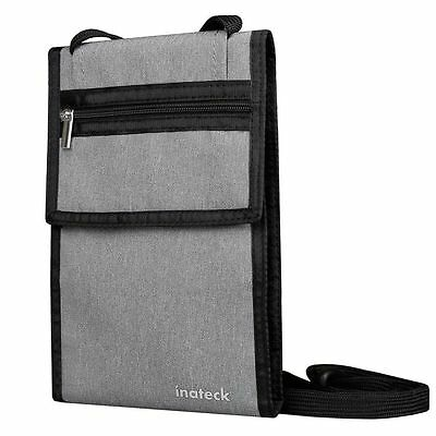 Inateck Travel Neck Wallet Anti-theft RFID Blocking Passport Holder Neck Stash