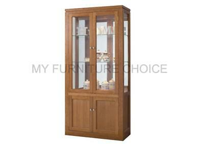 Tas Oak China Display With 4 Doors