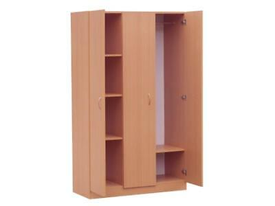 3 Doors Wardrobe in Beech, Walnut, White