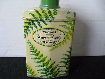 Vintage Houbigant Fougere Royale Talcum Powder Tin