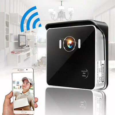 HD Wireless WiFi Home Doorbell IR Camera Door Intercom Monitor Night Version AU