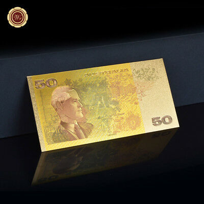 WR Australia $50 Dollar Paper Note World Gold Banknote Collect Gifts for Friends