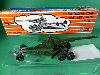 Crescent Toys England No.155 - 155mm Long Tom Artillery Gun boxed - Diecast