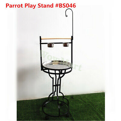 Portable Steel Bird Parrot Playpen Gym Toy Stand On Wheels (Ø45 x170cm) #BS046