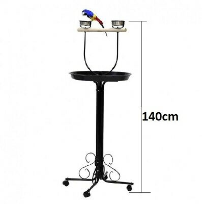 NEW Steel Bird Parrot Gym Toy Playpen Stand & Wheel (Ø55 X 140cm) #E10