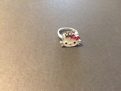 Hello Kitty Crown Sterling Silver Ring Size 7 (small hello kitty)