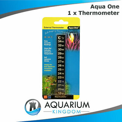 Sticker Thermometer Easy Read Aquarium Temperature Glass Fish Tank Digital Strip