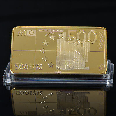 WR World Banknote Series EUR Gold Bullion Bar 100 Euro Note Collect Gift for Men