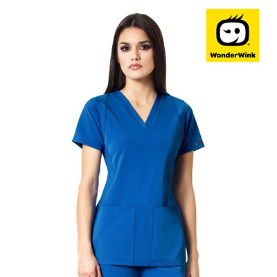 6112 Womens High Performance Slim Fit Stretch Scrub Top Nurses Medical Uniform