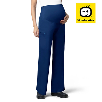 545 Womens Stretch Maternity Hospital Scrub Pant Nurse Nursing Medical Uniform