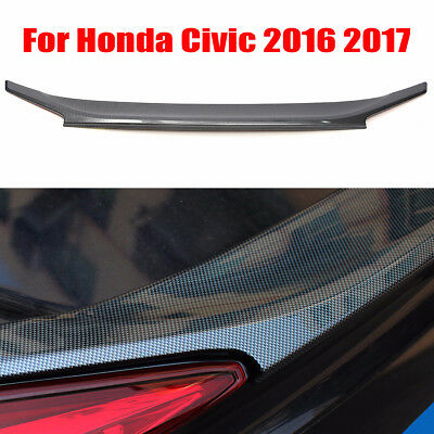 AU Stock New Carbon Fiber Look Rear Spoiler Wing Trim For Honda Civic 2016 2017