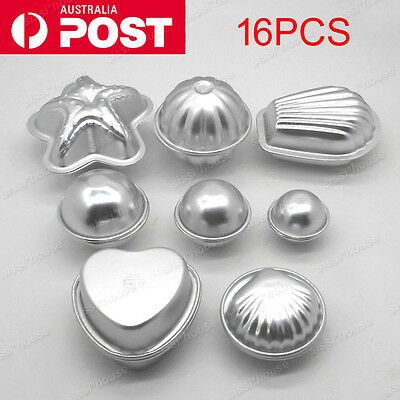 8 Shape 16x Metal Aluminum Bath Bomb Molds Moulds DIY Homemade Crafting GIFTS BO