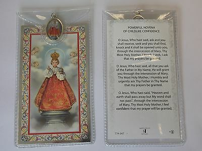 Religious Prayer Card With Saints Picture And Medal Religious Gift Catholic