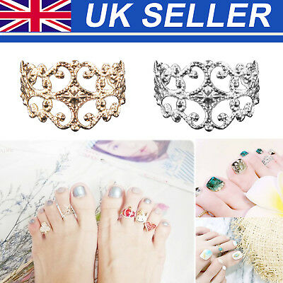 Women Celebrity Vintage Toe Ring Adjustable Foot Finger Fashion Beach Jewelry