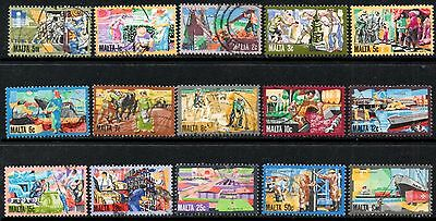 Malta 1981 Industries  Used  SG.667/681 (Complete Except For Top Value SG.682)