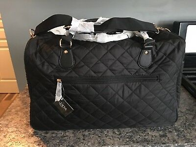 Overnight Weekender Travel Tote Bag - Black - Brand New With Tags