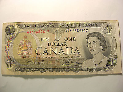 *-1973 Bank Of Canada-One Dollar-Aak2539617-*