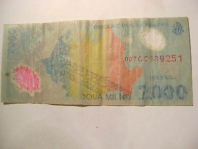 *-1999 Banca Nationala A Romania Commemorative-2,000 Lei-Polymer-*