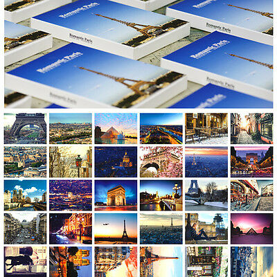 LOTS 30PCS Paris City View Postcards Places of Interest Eiffel Tower Views Bulk