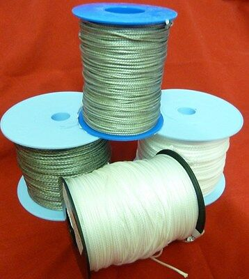 12 strand dyneema cord. Silver grey or white. 1mm 2mm 3mm 4mm. Various lengths.