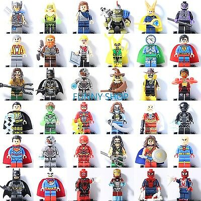 2017 Justice League Thor Ragnarok Batman Loki Flash Green Lantern Fits Lego