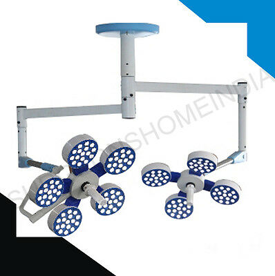 Operating Theatre Led Light Double Dome 9Reflector Cieling 227000Lux Orthopaedic