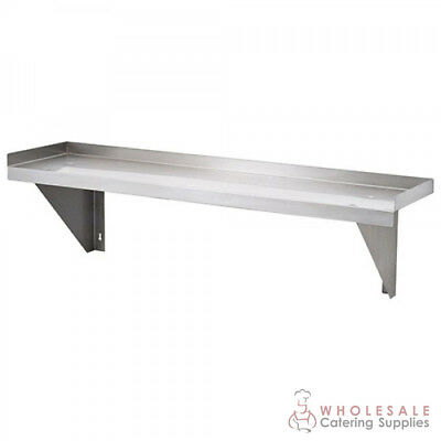 Solid Wall Shelf 600x300mm Stainless Steel Kitchen Storage Simply Stainless NEW