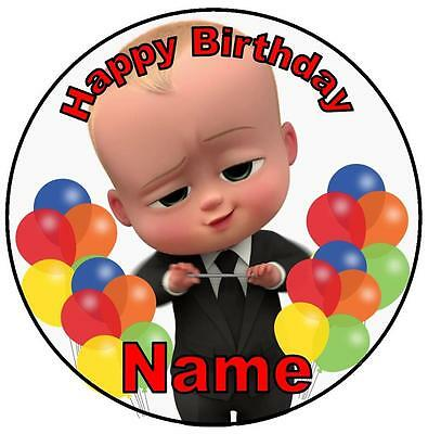 Boss Baby Edible Round Wafer Cake Topper