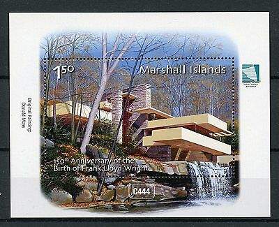 Marshall Islands 2017 MNH Frank Lloyd Wright 150th 1v M/S Architecture Stamps