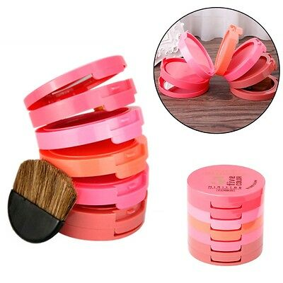 Face Makeup Blush Blusher Powder Palette Pressed Makeup Cosmetic Brush Tool Set
