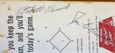 ROBERTO CLEMENTE Sign Program Official National League Baseball Autograph PIRATE