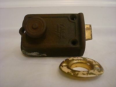 Vintage Deadbolt Lock Yale Cast Iron Made in USA Rare Unique