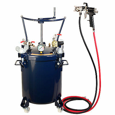 20ltr Pressure Tank with Air Regulator Paint Pot Spray Gun 2,0mm + AGITATOR