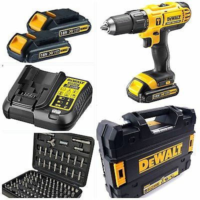 DEWALT 18V CORDLESS LITHIUM XR COMBI 2 Li-ION BATTERIES T STAK CASE FAST CHARGER