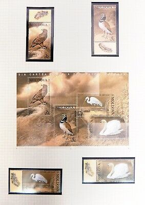 MOLDOVA 2003 Birds Set & M/Sheet U/M NB3002