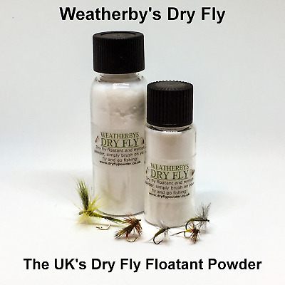 WEATHERBY'S DRY FLY FLOATANT POWDER - dry fly, CDC & nymph floatant from the UK