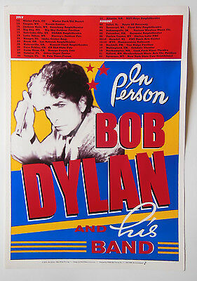 """Bob Dylan and his band Tour Concert Poster 2003 14""""x20"""" vintage"""