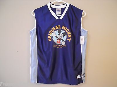 MICKEY MOUSE Disney Store Basketball Jersey Youth Size Large 10/12 Blue M28 New