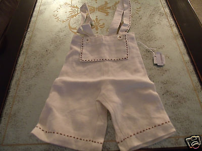 Melograno Boys' Beige 100% Linen Overalls (18 Month) MSRP:  $100.00